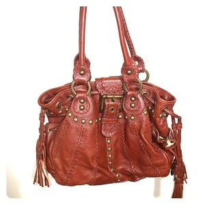 Isabella Fiore Brown Leather Hobo Bag